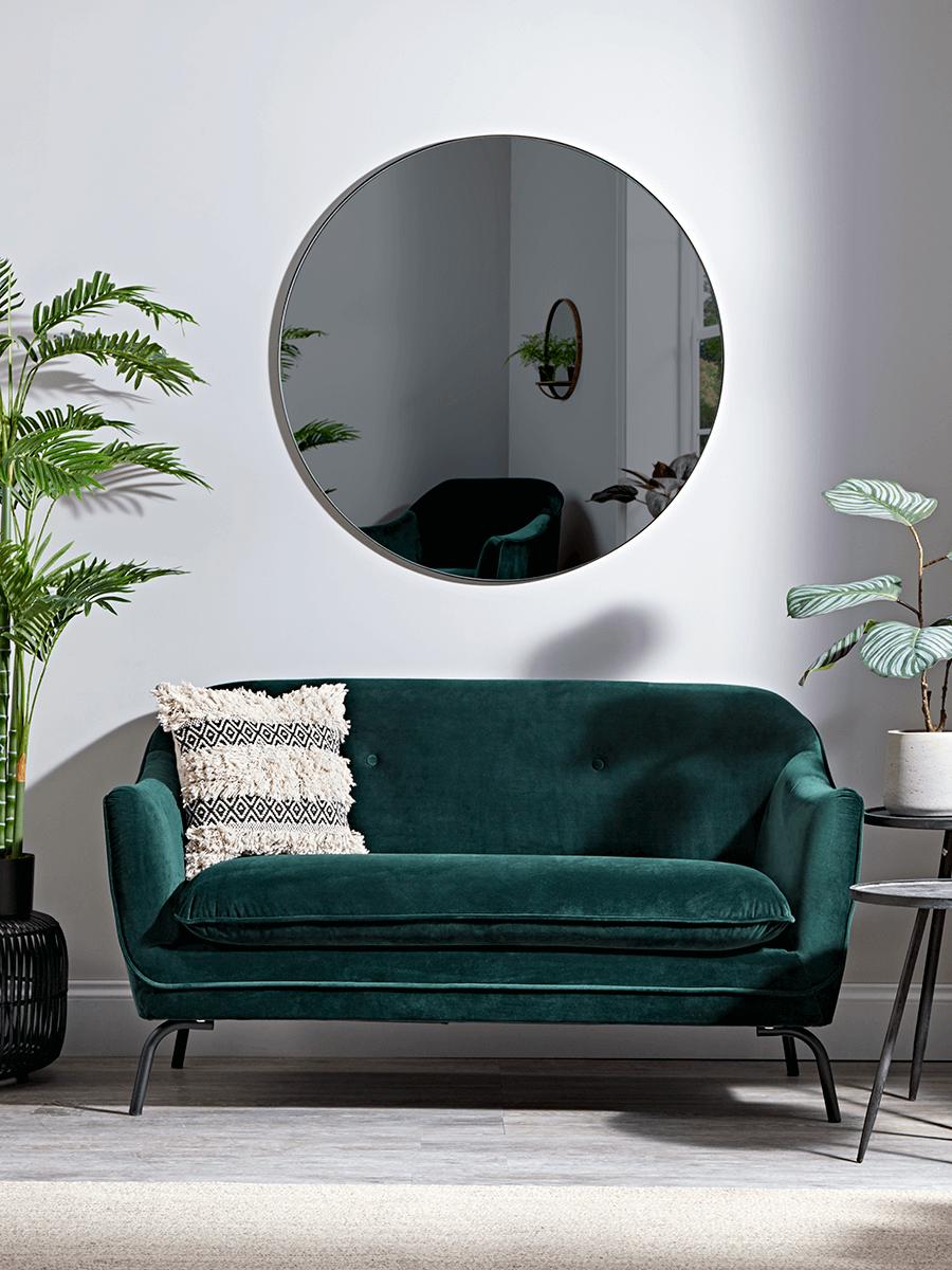 Forest Green Velvet Occasional Sofa