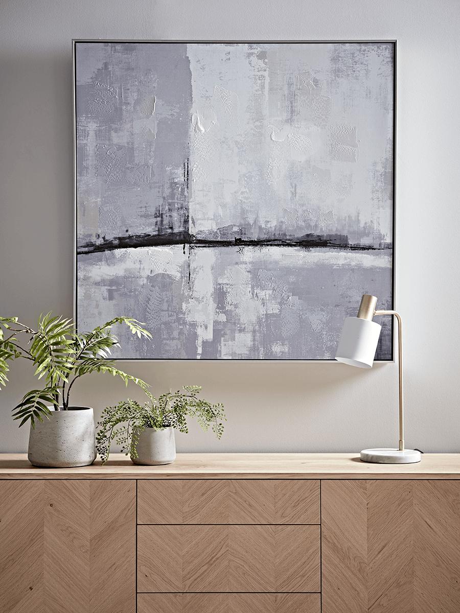 Abstract Skyline Framed Canvas