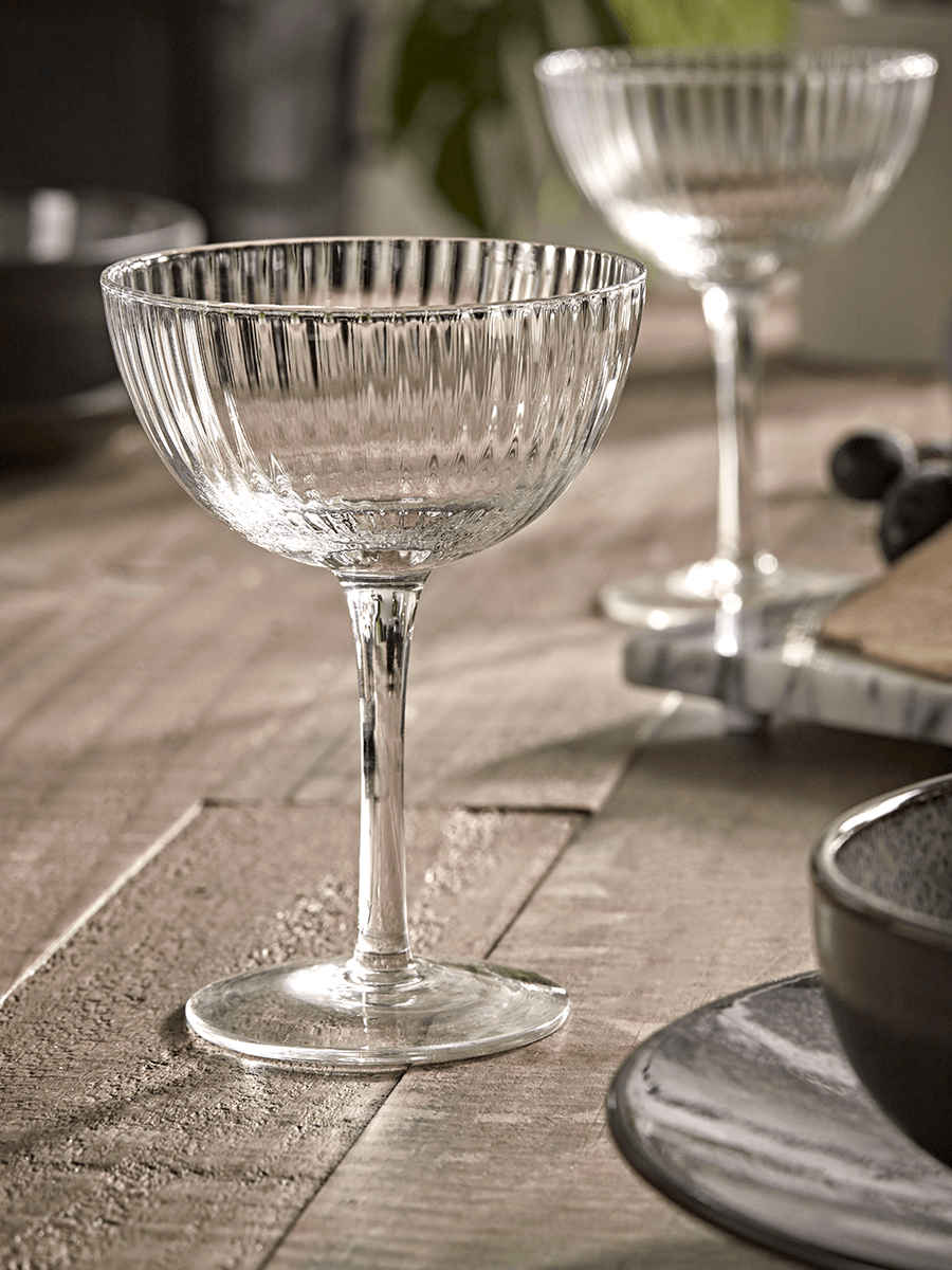 NEW Six Fluted Coupe Glasses