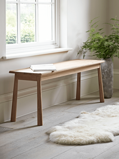 Bergen Oak Bench - Natural