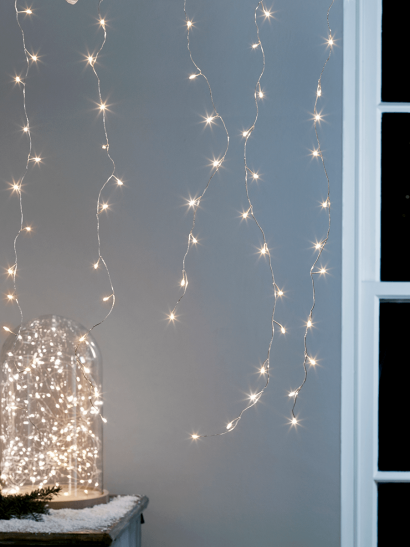 Indoor Outdoor Naked Wire Icicle Lights - 2.4M