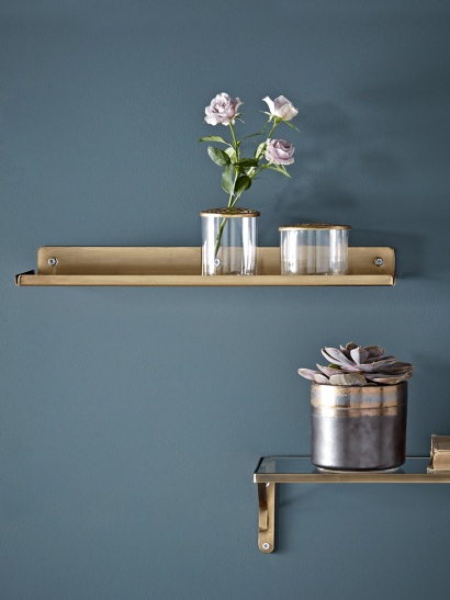 Slimline Metal Shelf - Brass