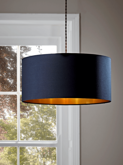 Navy & Brass Shade