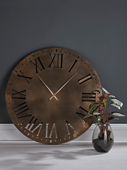 Oversized Bronze Clock