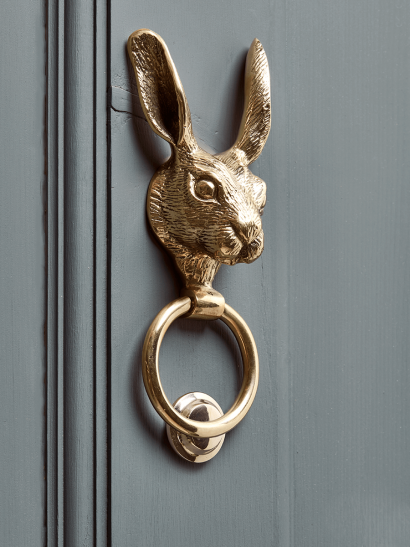 Hare Door Knocker – Solid Brass