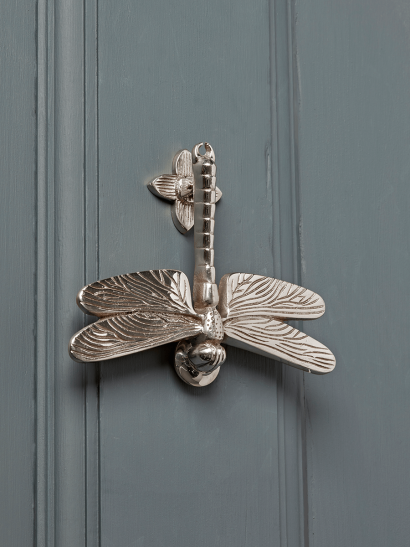 Dragonfly Door Knocker – Nickle