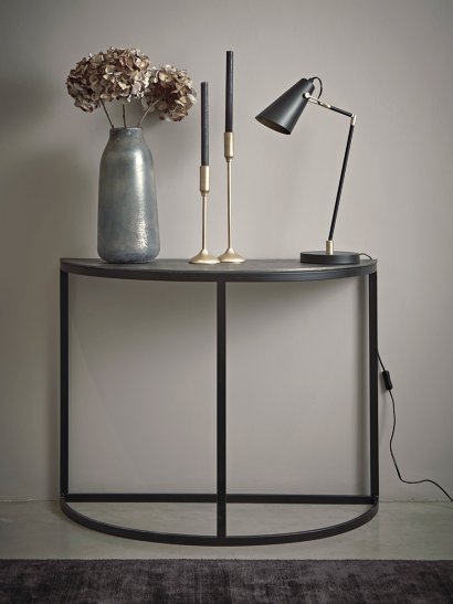 Aged Metal Demi Console