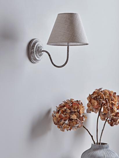 Antique Effect Wall Light - Whitewashed