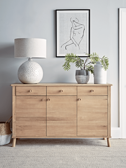 Bergen Oak Sideboard - Natural