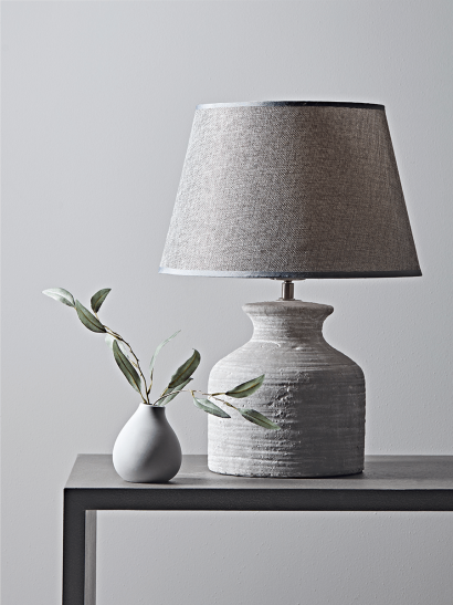 Concrete Effect Bedside Lamp