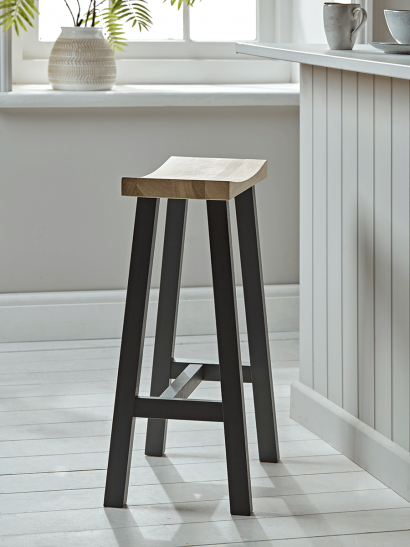 Curved Topped Counter Stool - Anthracite