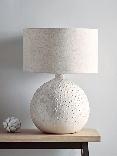 Glazed Dots Table Lamp - White