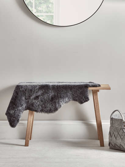 Shorthaired Graphite Sheepskin - Single
