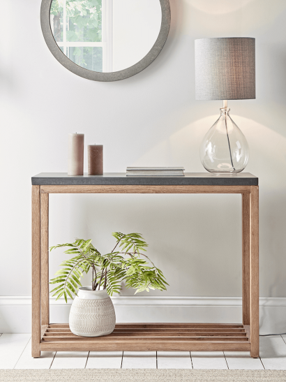 Grey Topped Console Table
