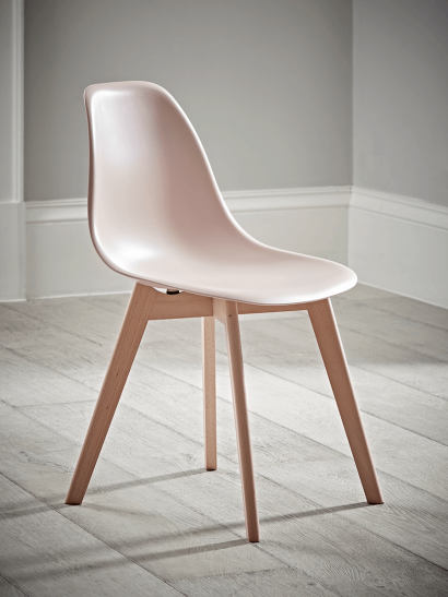 Two  Hudson Dining Chairs - Blush
