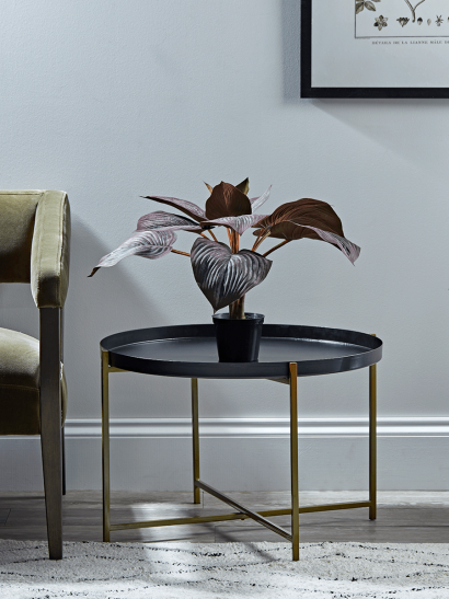 Iron & Brass Tray Table