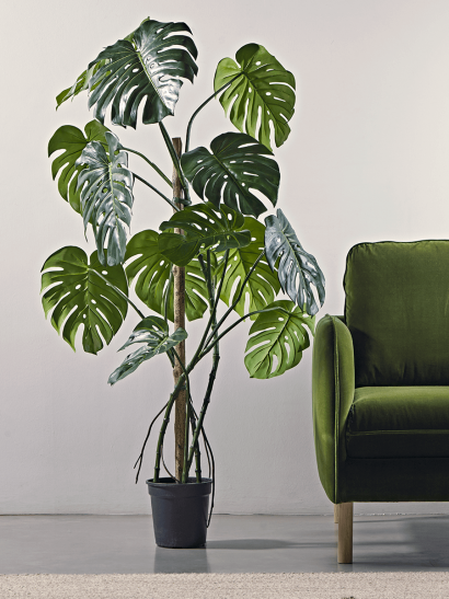 Tall Faux Potted Monstera