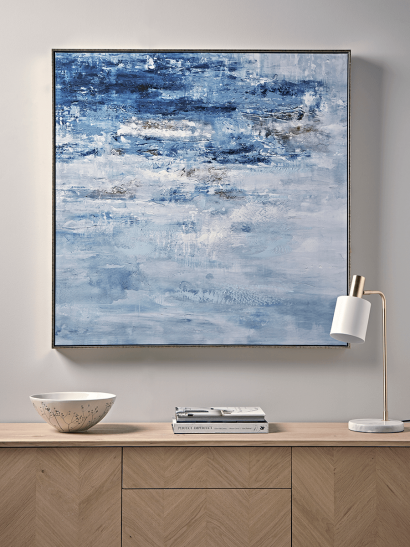Abstract Seascape Framed Canvas