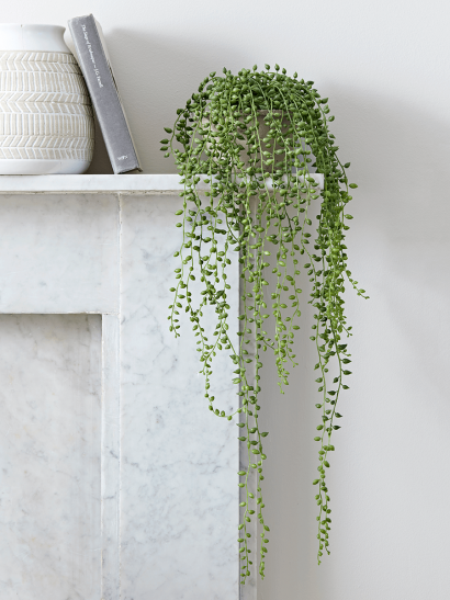 Faux Potted String of Pearls