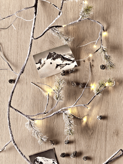 Light Up Frosted Pine Garland