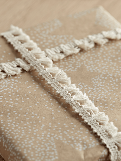 Cream Tassel Ribbon