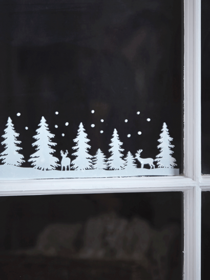 Frosted Forest Window Stickers