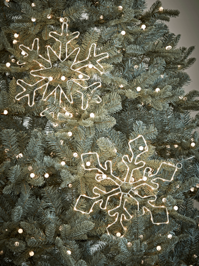 Two Indoor Outdoor Snowflake Silhouette Lights