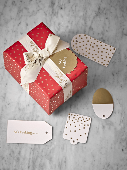 Gold Mini Stars Gift Tags
