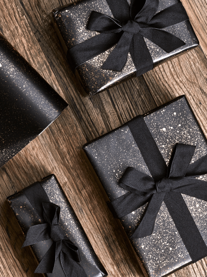 Rose Gold Splatter Wrapping Paper