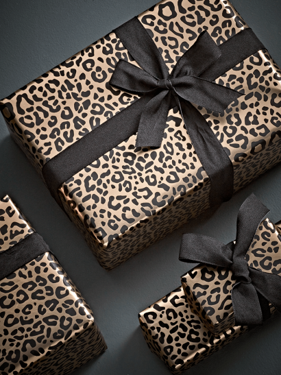 Golden Leopard Wrapping Paper