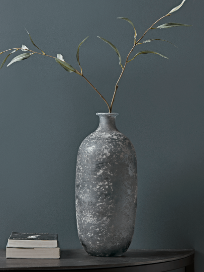 Frosted Grey Tall Vase
