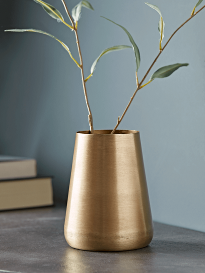 Brushed Gold Vase - Tall