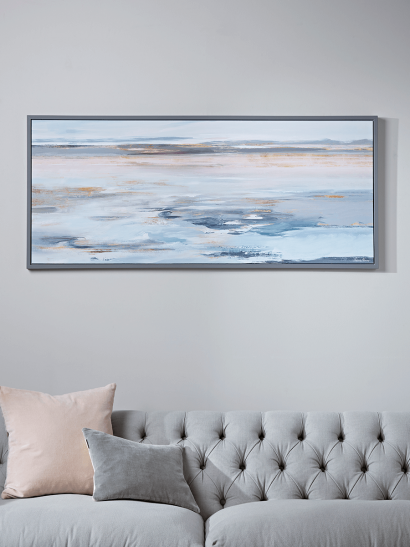 Abstract Tides Framed Canvas