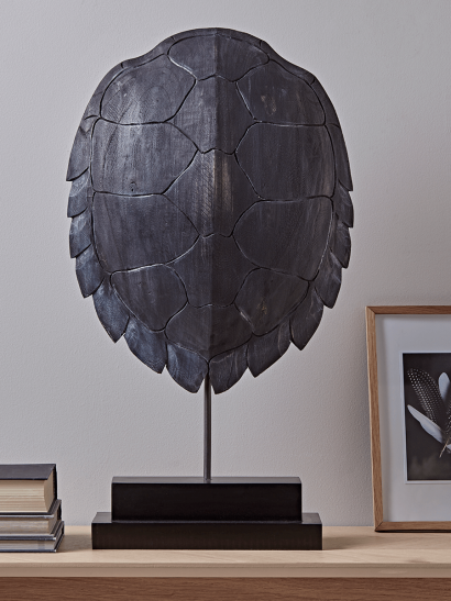 Standing Turtle Shell - Black