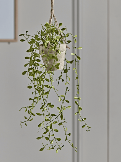 Hanging Potted Faux String of Nickels