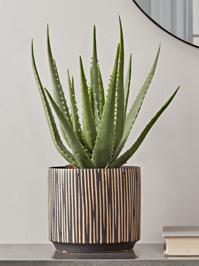 Black & Gold Textured Planter