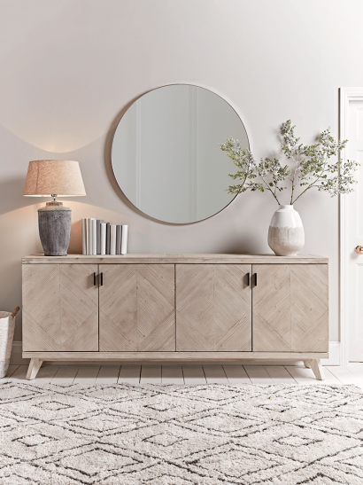 Limewashed Parquet Sideboard