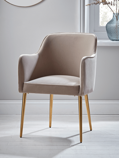 Mida Velvet Occasional Chair