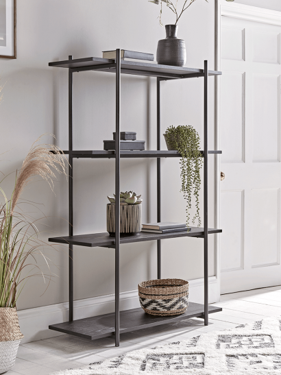 Black Ash Shelf Unit