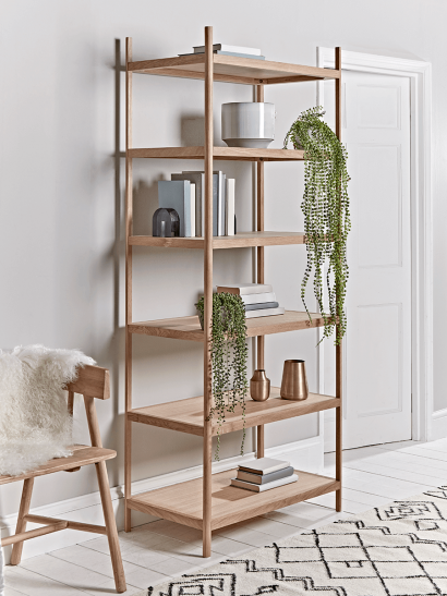 Tall Oak Shelving Unit