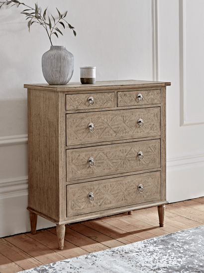 Geometric Parquet Chest Of Drawers