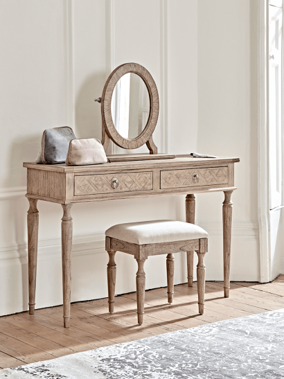 Geometric Parquet Dressing Table