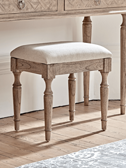 Geometric Parquet Dressing Table Stool