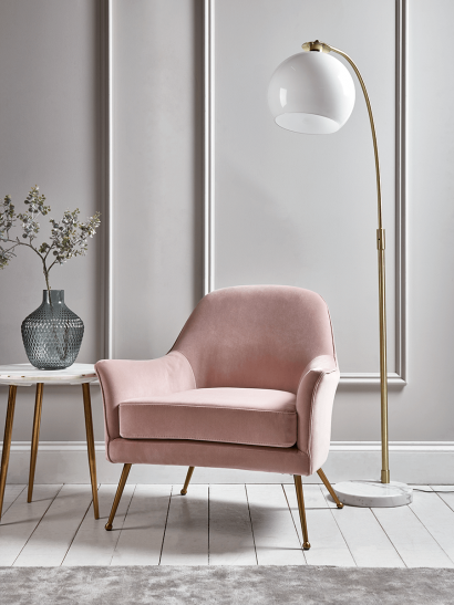 Flex Occasional Chair - Blush Velvet