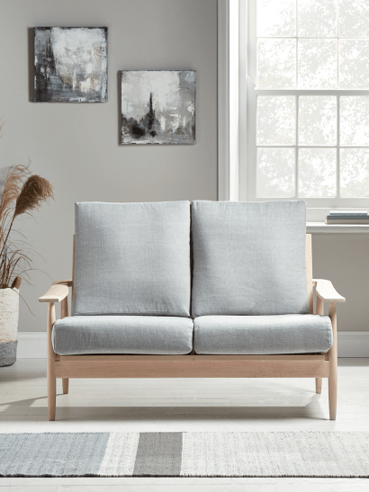 Beech Spindleback Sofa - Soft Grey