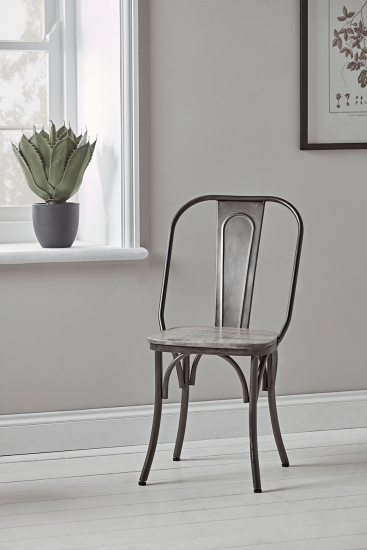 Two Zinc Dining Chairs
