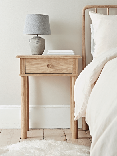 Bergen Oak Bedside Table - Natural