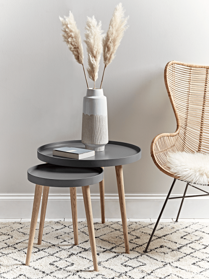 Mila Side Tables - Charcoal