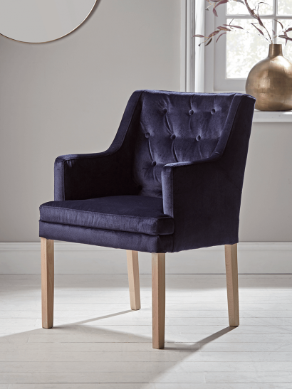Lisbet Occasional Chair - Navy Velvet