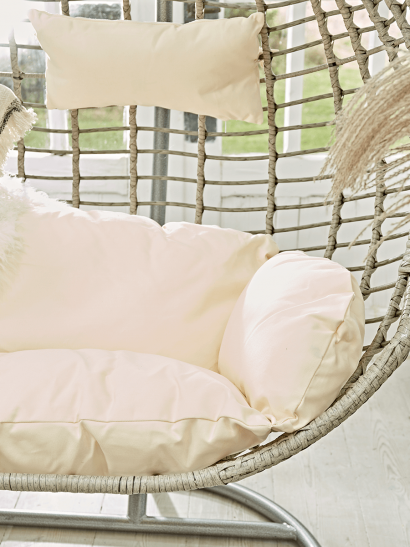 NEW Double Hanging Chair Cushion - Cream
